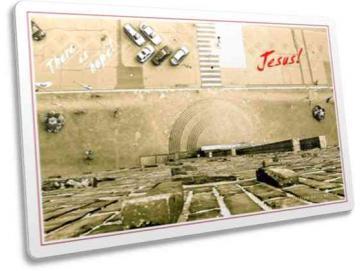 Christliche Postkarte: Blick vom Turm