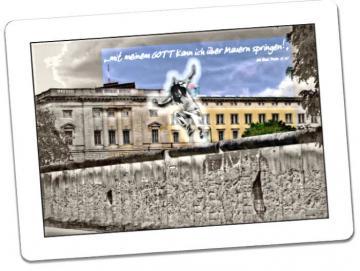 Christliche Postkarte: Berliner Mauer