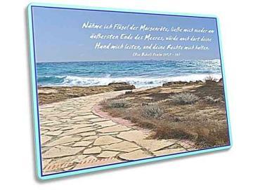 Christliche Postkarte - Strandweg Ayia Napa, Zypern