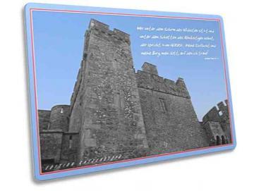 Christliche Postkarte  - Burg Psalm 91