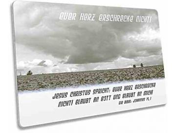 Christliche Postkarte - Unwetterwolken über Gemüsefeld