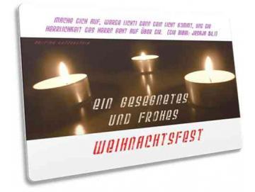 Christliche Weihnachtskarte: Teelichter - Postkarte