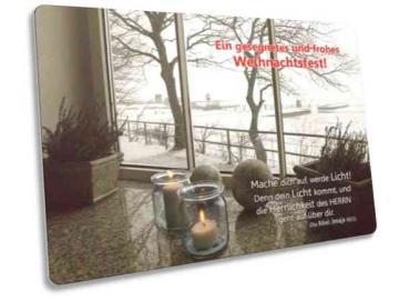 Christliche Weihnachtskarte: Winterfenster - Postkarte