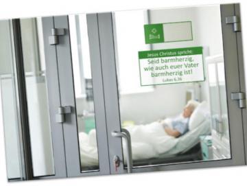 Poster A4 Jahreslosung 2021  - Blick in Krankenzimmer