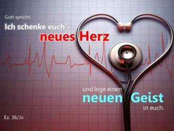 Poster Jahreslosung 2017 - Stethoskop auf EKG-Aufzeichnung