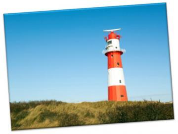 Leinwanddruck: Leuchtturm Borkum