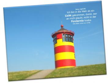 Christlicher Leinwanddruck: Leuchtturm Pilsum