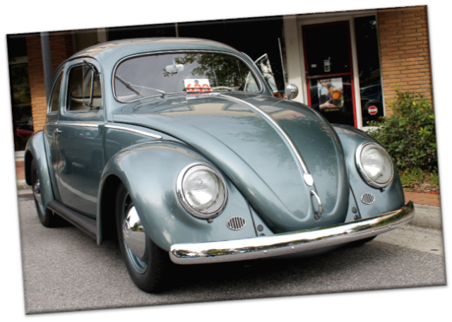 Leinwanddruck: VW Käfer - Volkswagen Ovali