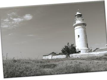 Leinwanddruck: Britischer Leuchtturm, Paphos