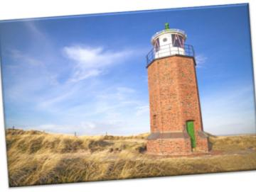 Leinwanddruck: Leuchtturm Sylt - Quermarkenfeuer Rotes Kliff