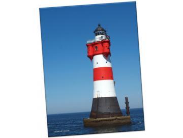 Leinwanddruck: Leuchtturm Roter Sand II - Hochformat
