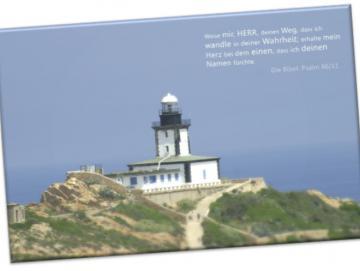Christlicher Leinwanddruck: Leuchtturm La Revellata, Korsika