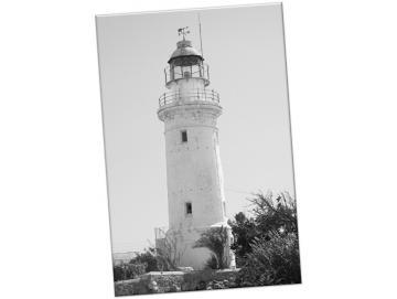 Leinwanddruck: Leuchtturm, Paphos III - Hochformat