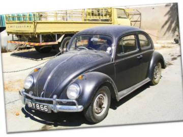 Leinwanddruck: Volkswagen Käfer Export