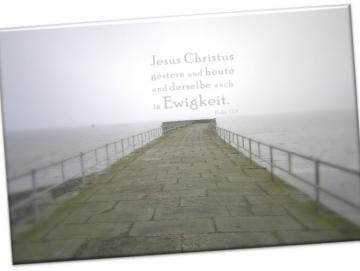 Christlicher Leinwanddruck: Mole, Wilhelmshaven