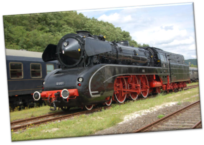 Leinwanddruck Eisenbahn - Dampflokomotive