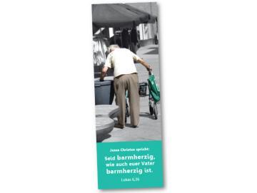 Jahreslosung 2021 Lesezeichen 10er-Set: Rentner am Mülleimer
