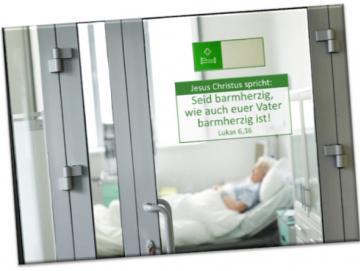 Jahreslosung 2021 Kühlschrankmagnet:  Blick in Krankenzimmer- 10er-Set