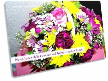 Christliche Postkarte Geburtstag: Blumenkorb