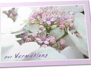 Christliche Hochzeitskarte : Hortensienblüte