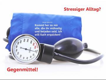 Christliches Poster A2 : Blutdruckmeßgerät