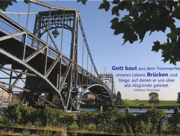 Christliches Poster A2 - Kaiser-Wilhelm-Brücke im Sommer