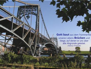 Kühlschrankmagnet 10er-Set - Kaiser-Wilhelm-Brücke im Sommer