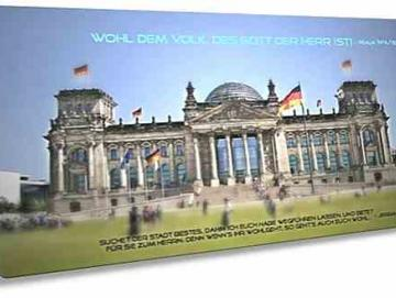 Christliche Postkarte lang - Berliner Reichstag - Maxicard
