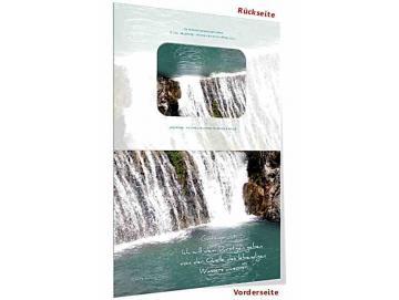 Jahreslosung 2018 Faltkarte, Klappkarte mit Kuvert - Wasserfall
