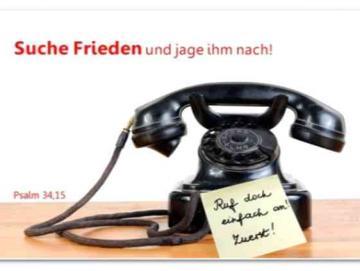 Jahreslosung 2019 Poster DIN A 2 - Nostalgisches Telefon