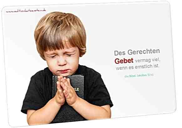 Christliche Postkarte. Betender Junge - Mit Bibelvers: Jakobus 5,16