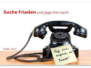 Plakat A3 Jahreslosung 2019 - Nostalgisches Telefon