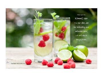 Christlicher Leinwanddruck: Limonadengläser
