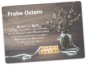 Christliche Osterkarte: Weidenkätzchen