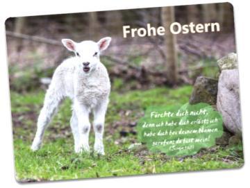 Christliche Osterkarte: Osterlämmchen