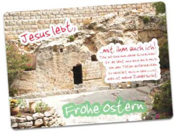 Christliche Osterkarte: Gartengrab, Jerusalem