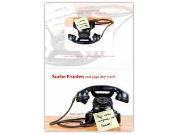 Faltkarte Jahreslosung 2019 - Motiv: Nostalgisches Telefon