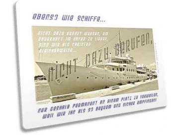 Christliche Postkarte: Nostalgisches Schiff