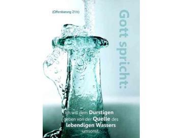 Plakat A4 - Wasserflasche- Jahreslosung 2018