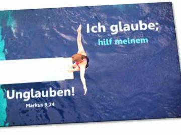 Poster Jahreslosung 2020  - Motiv: Turmspringerin - Plakat DIN A3