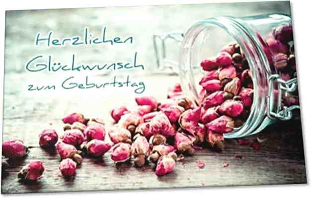 Christliche Geburtstagskarte: Stilleben mit Trockenblumen - mit Kuvert