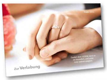 Christliche Verlobungskarte - Faltkarte, mit Kuvert - Motiv: Hände