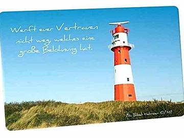 Christliche Postkarte: Leuchtturm Borkum - Mit Bibelvers: Hebräer 10,35