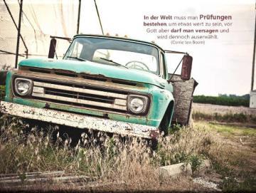 Christlicher Leinwanddruck: Pick-up Oldtimer