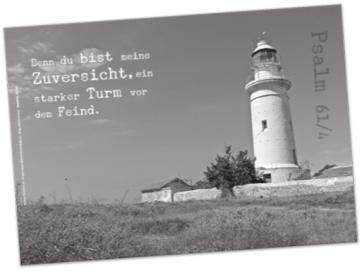 Christliches Poster A2: Britischer Leuchtturm Paphos