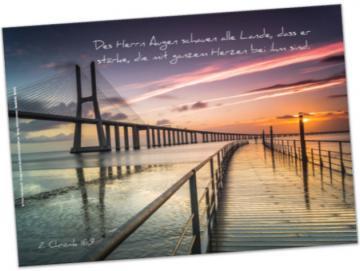 Christliches Poster A2: Moderne Hängebrücke