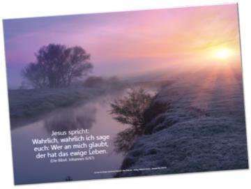 Christliches Poster A2: Flusslandschaft