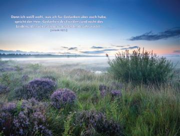 Christliches Poster A2: Morgendämmerung in der Heide