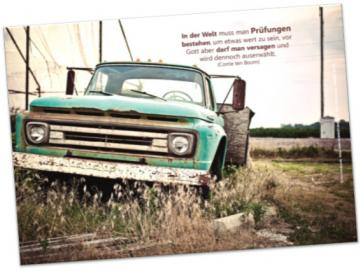 Christliches Poster A2: Pick-up Oldtimer