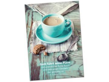 Christliches Poster A2: Tasse mit frisch gebrühtem Kaffee